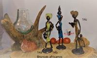 Frauen mit Krügen und Kindern - Afrikanische Bronzen