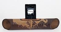 "Handmade speaker with carving ""Borobudur"". Handmade Bamboo Speakers"