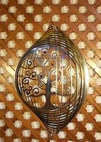 """Móvil espiral circular """"Árbol de la vida con chakras"""" - Móviles de viento y Espirales"""
