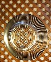 """Móvil espiral circular """"Flores de la vida"""" - Móviles de viento y Espirales."""
