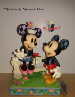 Mickey and Minnie on the fence - Disney Collection