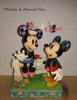 Mickey y Minnie en la valla - Colección Disney