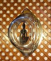"""Mobil Kreisspirale """"Chakren Buddha"""" - und Helical Wind Mobile."""