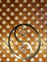 """Mobile """"Yin Yang mit Glaskugeln """" - Wind mobiles und Spirals"""