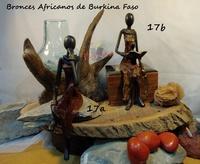 """Mujer sentada pensativa"" . Bronces Africanos"