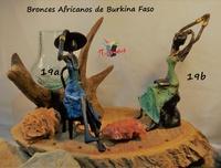 "Mujeres africanas sentadas"" - Bronces Africanos"